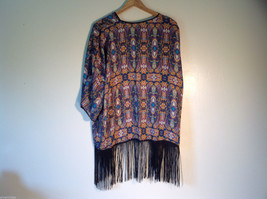 NEW Womens Arianna by Howards Thin Patterned Shirt Tassels 100% polyester image 6