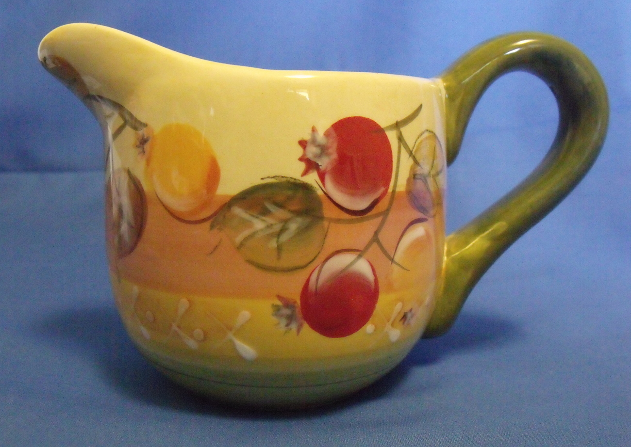 Gibson handpainted creamer pitcher left