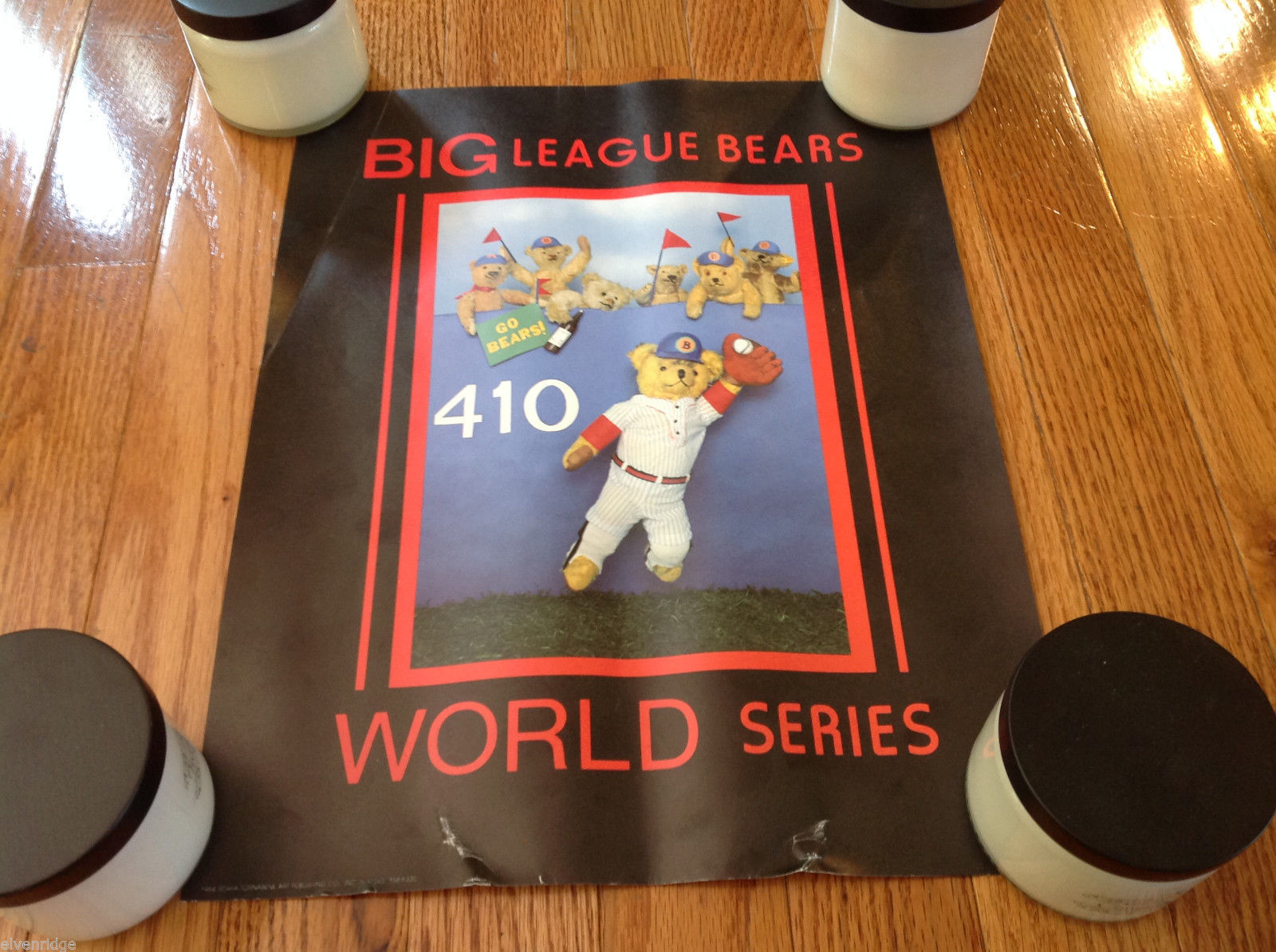 "Vintage 1984 Big League Bears World Series 11""x14"" Poster"