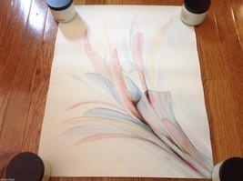 "Vintage 1987 Flower Lithographic Print Poster Jensen 16""x20"""