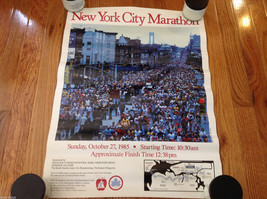 "Vintage 1985 New York City Marathon Poster 18""x24"""