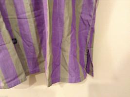 Striped Light Green / Light Violet Deep V-neck Cover Up Blouse Top, No size tag image 4