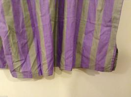 Striped Light Green / Light Violet Deep V-neck Cover Up Blouse Top, No size tag image 7