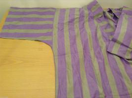 Striped Light Green / Light Violet Deep V-neck Cover Up Blouse Top, No size tag image 8