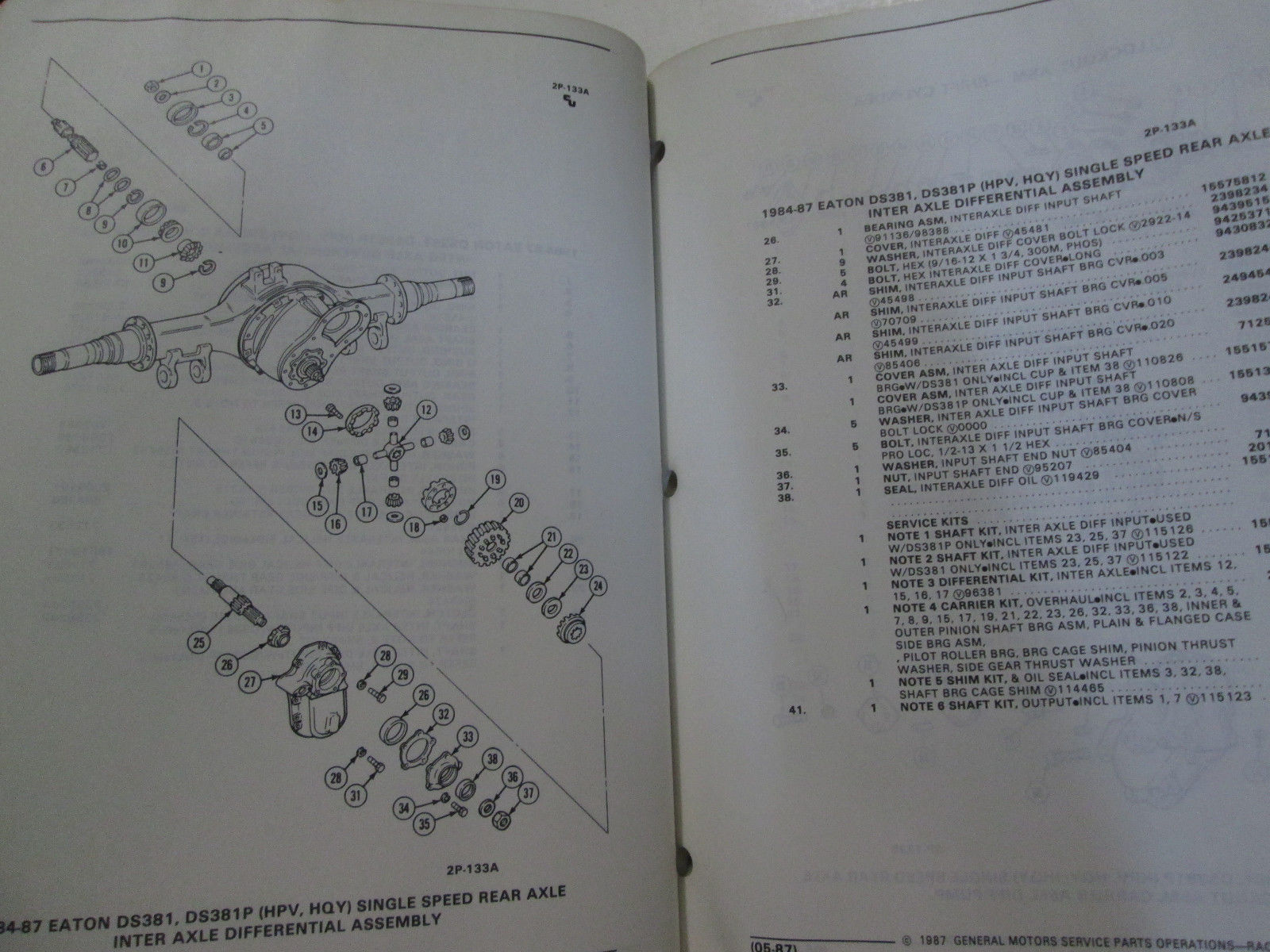 1984 1985 1986 1987 GM TRUCK MEDIUM DUTY REAR AXLE PARTS Catalog Manual OEM Book image 4