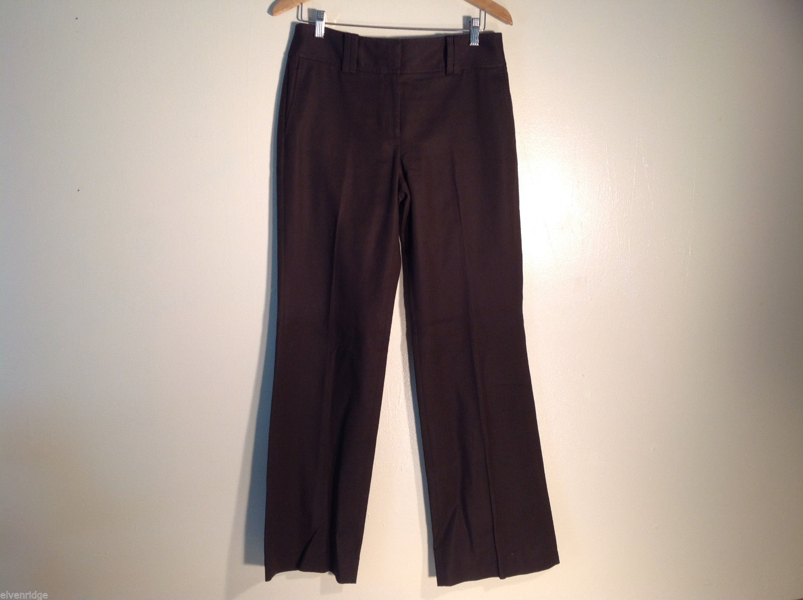 Womens Ann Taylor Size 8 Brown Casual/Dress Pants 100% cotton, Excellent