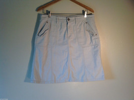 Womens G.H. Bass Size 12 100% Cotton White Skirt Excellent