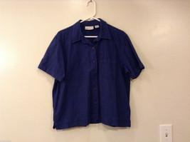Womens Sunbay Cotton Dark Blue Jean Shirt Blouse Size L
