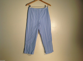 Womens Valerie Stevens Light Fabric Casual Pants Size 6 Light Blue Great