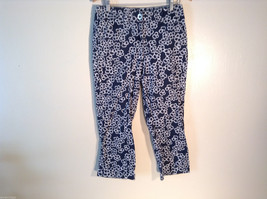 Womens Liz Claiborne Size 8 Black Floral Print Jeans/Pants Great
