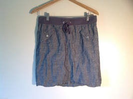 Womens NY & Co Size S Gray Skirt Stretchy Waist Faux Pockets Excellent