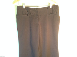 Womens Charlotte Russe Size 8L Black Low Rise Dress Pants/Slacks Flared Legs image 2