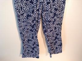Womens Liz Claiborne Size 8 Black Floral Print Jeans/Pants Great image 3
