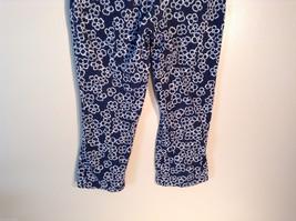 Womens Liz Claiborne Size 8 Black Floral Print Jeans/Pants Great image 5