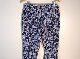 Womens Liz Claiborne Size 8 Black Floral Print Jeans/Pants Great image 4