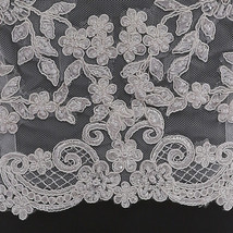 Deep V Illusion Neckline Lace Tops Sleeveless Empire Style Lace Bridesmaid Tops image 3