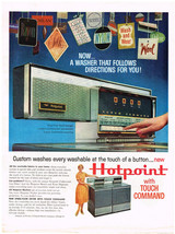 Vintage 1960 Magazine Ad For Hotpoint Washer New Free Span Design Touch ... - $5.93