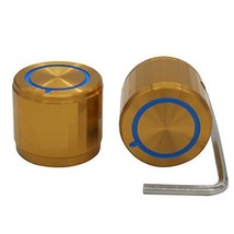 Taiss/ 2pcs Golden Aluminum Rotary Electronic Control Potentiometer Knob For 6 m - $19.96