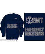 EMT EMS CREW NECK SWEATSHIRT WITH REFLECTIVE IMPRINT EMERGENCY MEDICAL S... - $27.67+