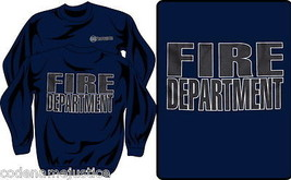 Firefighter Crewneck Sweatshirt With Reflective Imprint Fire Department Shirt - $27.67+