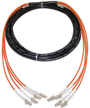 50/125 LC-LC 200M Direct Burial Indoor Outdoor Fiber Cable 656FT Multimode - $558.99