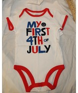 New Baby Carters One Piece First 4th of July Patriotic America NB-9M USA  - $5.99