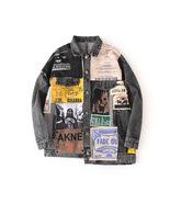 Fashion new printed loose couple denim jacket - $68.50
