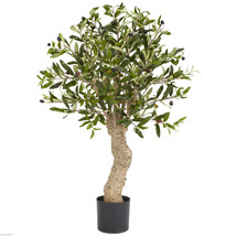 Nearly Natural 2.5' Olive Silk Tree 690 Leaves Free Shipping (5331) - $83.99