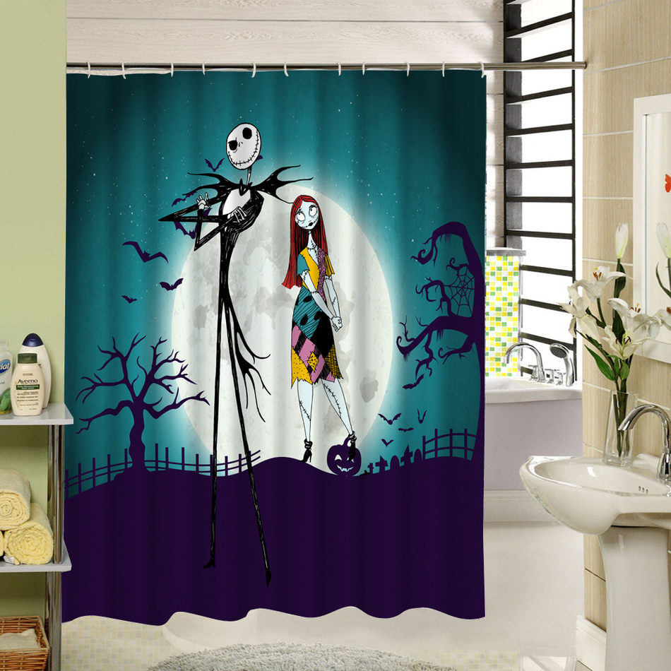 Party Happy Halloween 04 Shower Curtain Waterproof Polyester Fabric For Bathroom