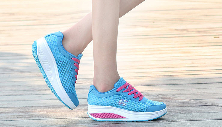pa010 Colouful lady's running sneaker, size 35-40, blue - $48.80