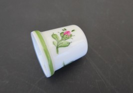 Handpainted Austrian  AUGARTEN thimble-Vienna Rose - $42.00