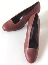 """Vintage  Designer Perry Ellis Italian Snake Skin  Heels 2 1/2 """",Old New Stock - $54.45"""