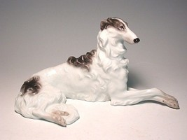 Austrian AUGARTEN black  BORZOI,russian wolfhound dog - $495.00