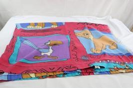 Vintage Disney Lion King Simba twin flat sheet fabric sewing - $50.00