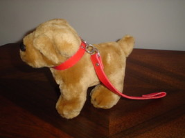 Shar Pei Stuffed Dog Leather Collar and Leash - $67.54