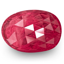 IGI Certified BURMA Ruby 3.09 Cts Natural Untreated Rich Pinkish Red Oval - $3,476.00