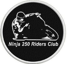 Ninja 250 Rider's Club Embroidered Motorcycle Patch - $5.00
