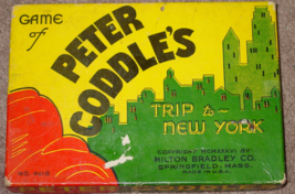 PETER CODDLES TRIP TO NEW YORK GAME 1936 MILTON BRADLEY RARE EXCELLENT W... - $25.00