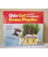 Chia Cat Grass Planter Featuring Snoozy Kitty  - $14.00
