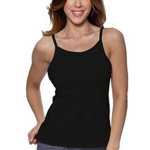 Alessandra B Underwire Bra High Neck Camisole (40A, Black) - $24.99