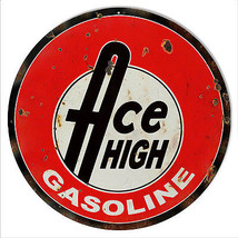 Reproduction Ace High Gasoline Motor Oil Sign 1... - $23.76