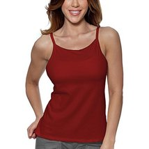Alessandra B Underwire Bra High Neck Camisole (40D, Red) - $24.99