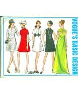 1960s Size 8 Bust 31 ½ Mod Mini Maxi Dress Vogue Basic Design 2255 Pattern - $18.99
