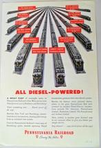 Diesel Powered Pennsylvania Railroad Vintage 1944 Print Ad Or General El... - $5.50