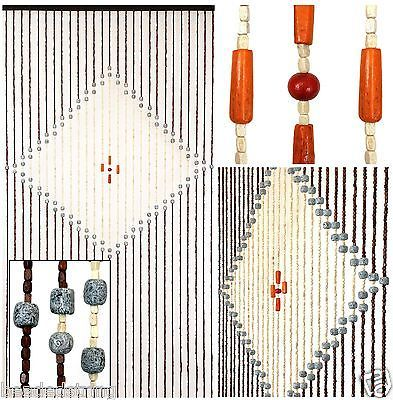 Wood Beaded Curtain-Wood Door Beads-Wood Doorway Curtain-Wooden Boho Curtain-88