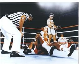 Muhammad Ali George Foreman 4 Zaire Vintage 11X14 Color Boxing Memorabil... - $15.95