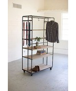 ROLLING CLOSET METAL DOUBLE SIDED MERCHANDISER DISPLAY CART ON CASTERS - $1,831.50