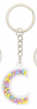 Disney Parks Mickey Mouse Bead Letter C Initial Keychain NEW - $15.90
