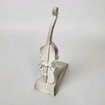 Cello Antique White Iron Door Stopper violin musician  - $19.80