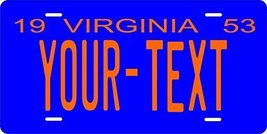 Virginia 1953 Personalized Tag Vehicle Car Auto License Plate - $16.75